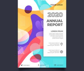Abstract cover business brochure template vector