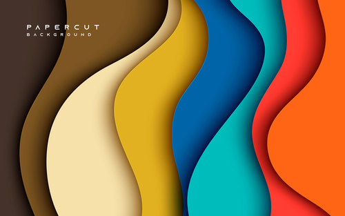 Abstract seven color background vector
