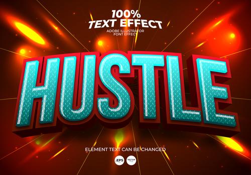 Adobe illustrator font effect vector