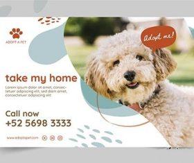 Adopt Pet Banner vector