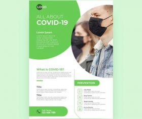 All about COVID -19 flyer vector