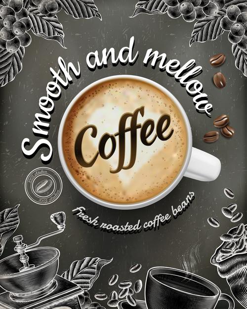 Aromatic coffee vector