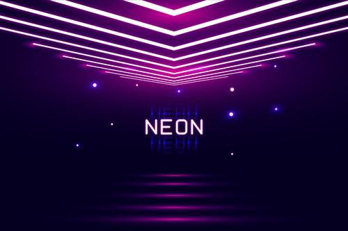 Arrow graph neon background vector