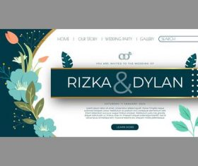 Art wedding posts vector
