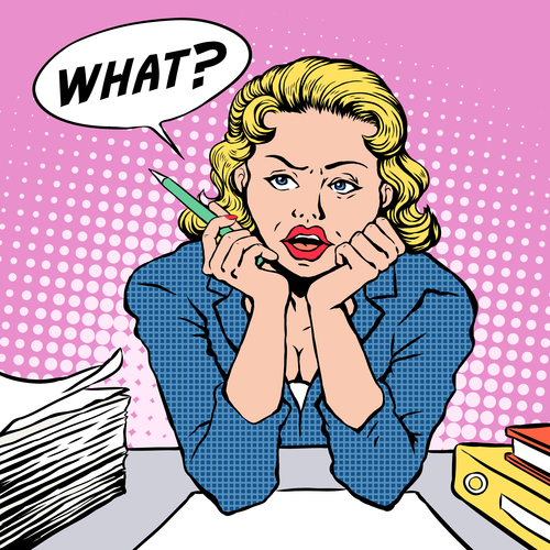 Ask pop art illustration vector
