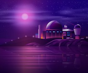 Astronomical station background vector