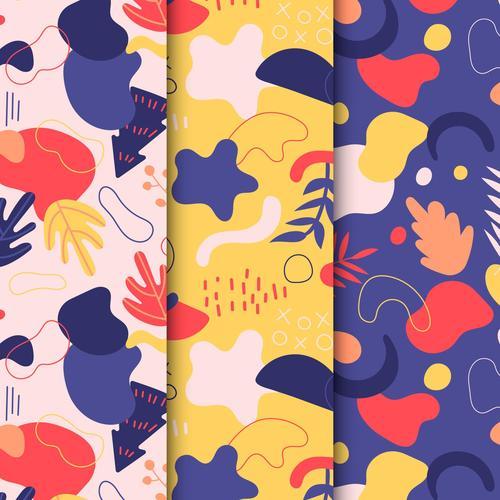Autumn abstract seamless pattern vector