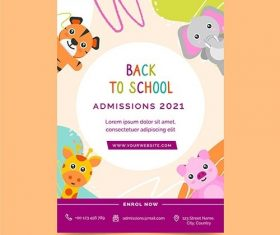 Back to school flyer template vector