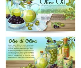 Banner olive products vector