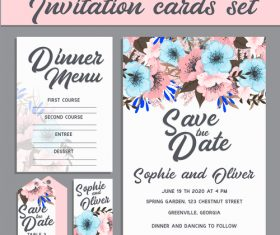 Beautiful invitation card vector