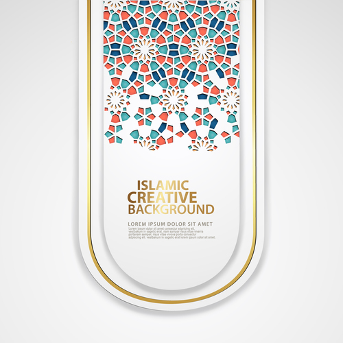 Beautiful islamic creative background vector