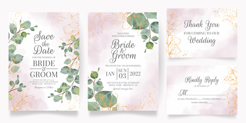 Beautiful wedding invitation card vector