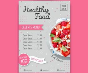 Best chaice food menu flyers vector