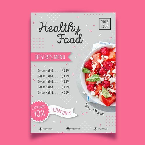 Best chaice food menu flyers vector