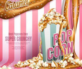 Best popcorn ever advertising vector