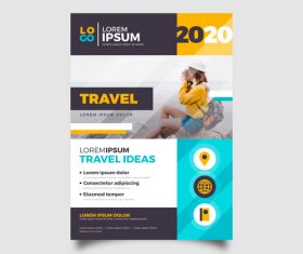 Best tourist destination flyer vector