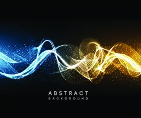 Bicolor wave abstract background vector