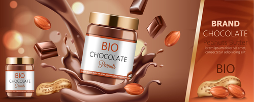 Bio chocolate vector
