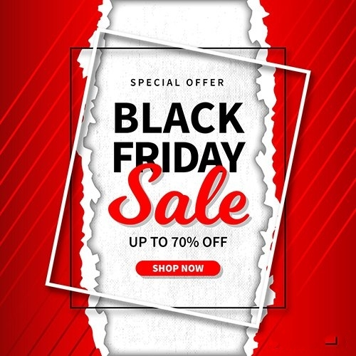 Black Friday Sale Paper Style vector