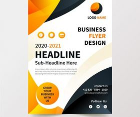 Black and yellow background business flyer design vector