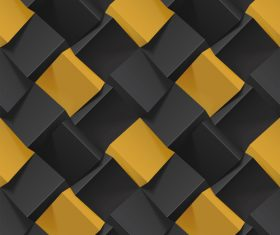 Black and yellow squares abstract background vector