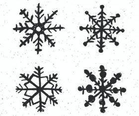 Black winter snowflake vector
