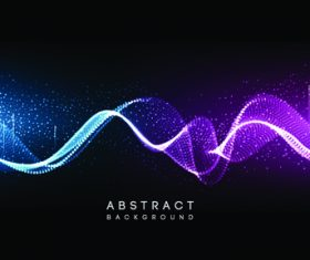 Blue and purple abstract wave background vector