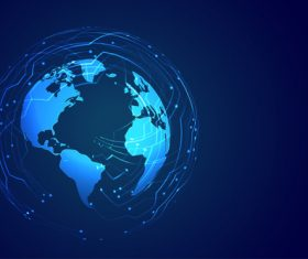 Blue earth background vector