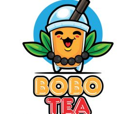 BoBo tea icon vector