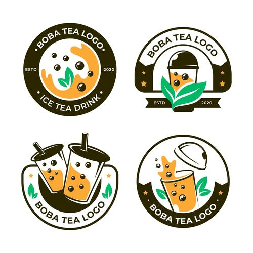 Boba tea logo vector