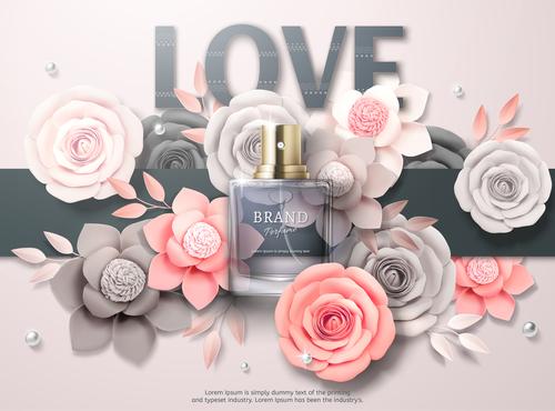 Brand perfume vector