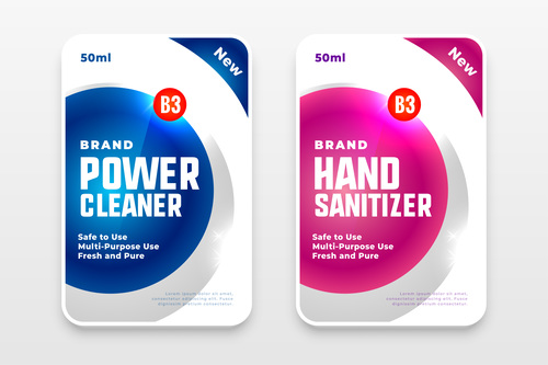 Brand power cleaner label vector