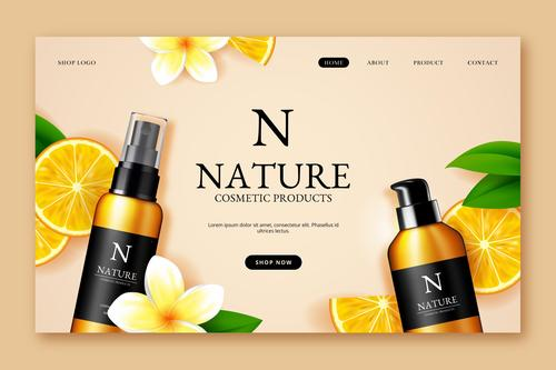 Brand skin care products vector