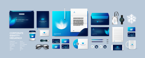 Branding identity template vector
