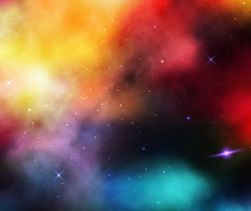 Bright galaxy background vector
