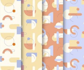 Bright memphis pattern vector background