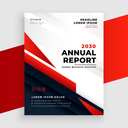 Brochure black and red cover vector