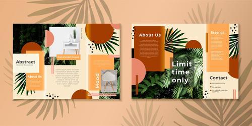 Brochure vector template