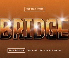 Brown matte background Bridge editable font effect text vector
