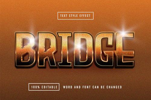 Brown matte background Bridge editable font effect text vector