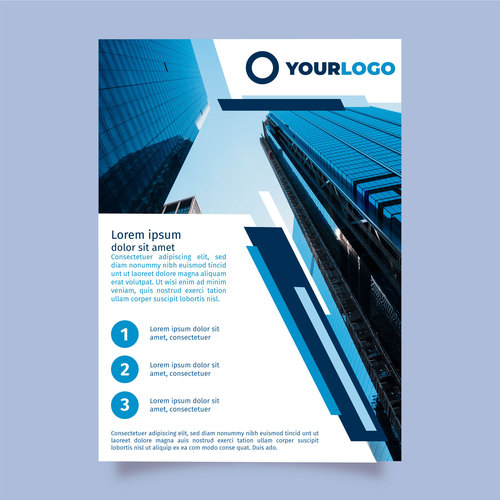 Building background company brochure template vector