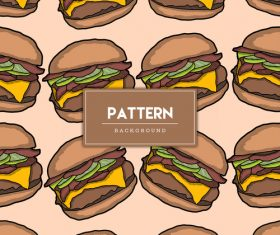Burger decorative seamless pattern background vector