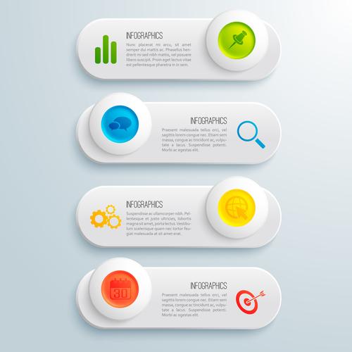 Business catalog navigation design vector