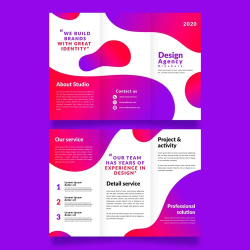 Business detail service flyer vector