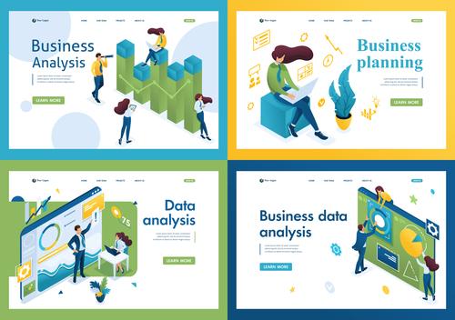 Business planning vector 3D concept illustration