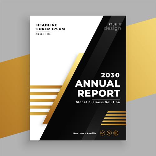 Business proflie brochure vector