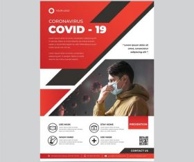 COVID -19 flyer Please wear a mask vector