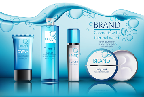 CREAM skin care products vector