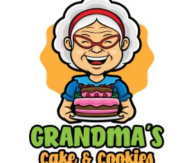 Cake cookies icon vector