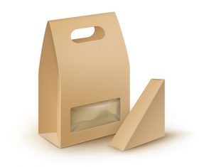 Cardboard delivery box vector